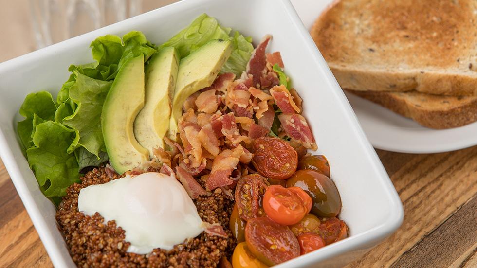 BLT Egg Quinoa Bowls
