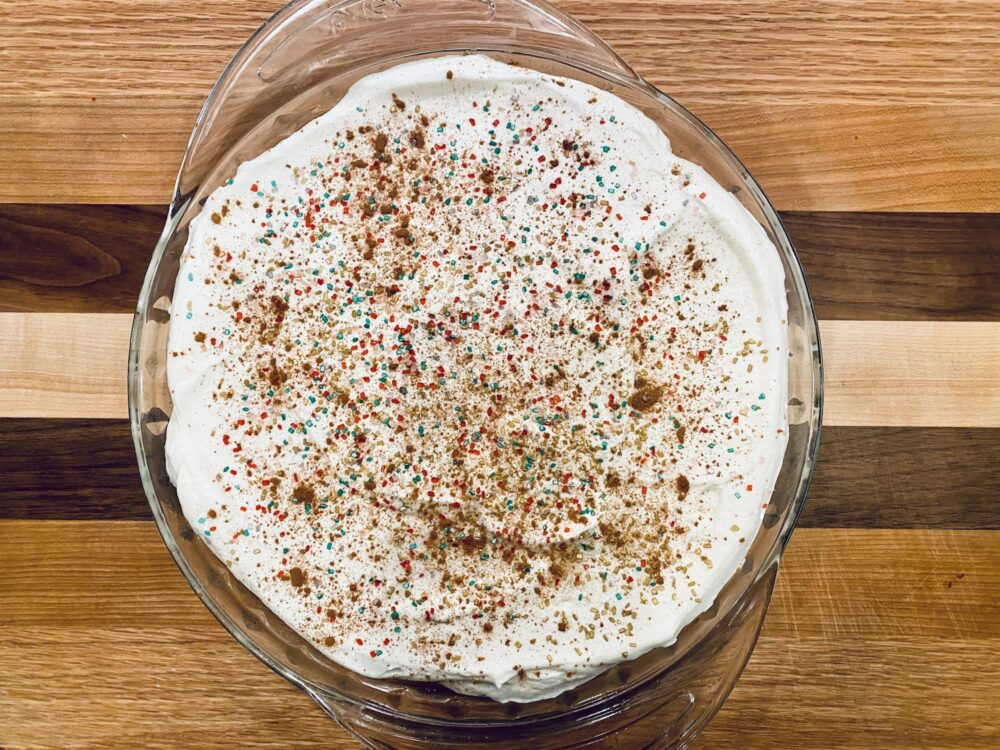 Eggnog Christmas Custard Pie