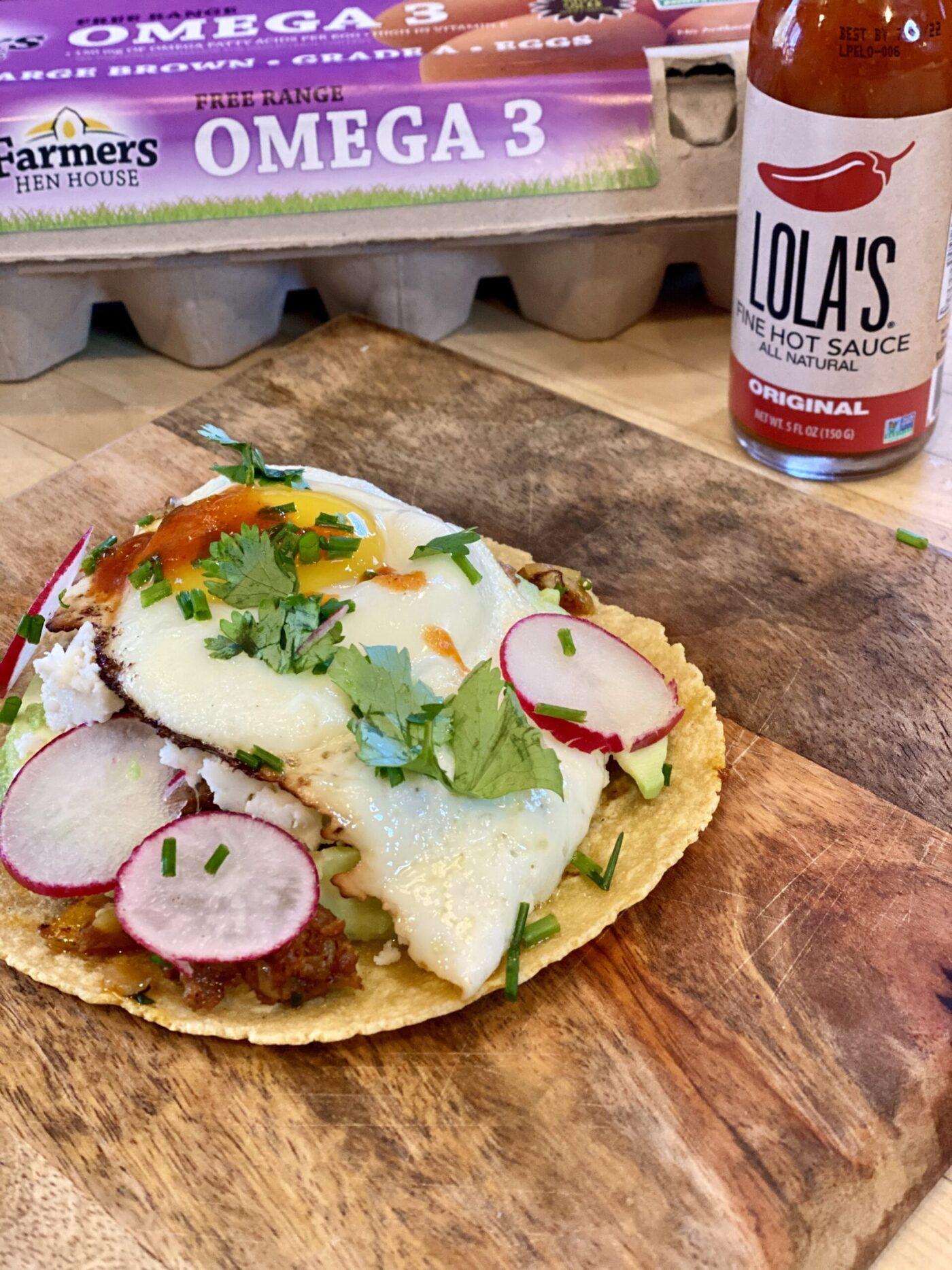Chorizo Egg Tacos