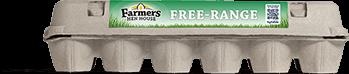 Farmers Hen House Free-Range Eggs carton profile