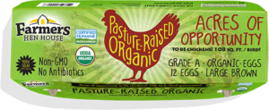 Farmers Hen House Pasture-Raised Organic Eggs carton top
