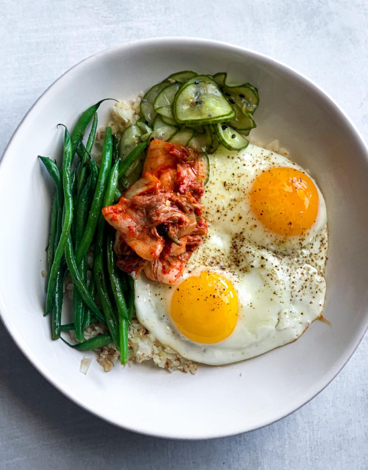 Kimchi and Egg Breakfast Bowl