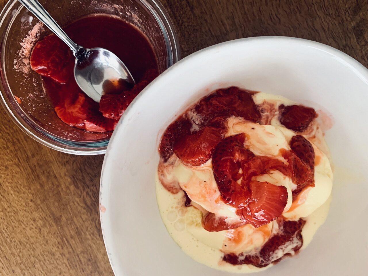 Vanilla Frozen Custard with Fresh Strawberries