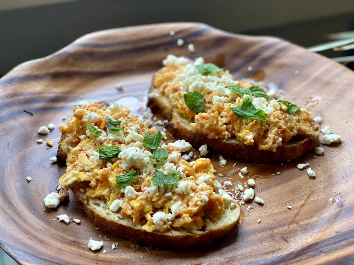 Mediterranean Egg Toast