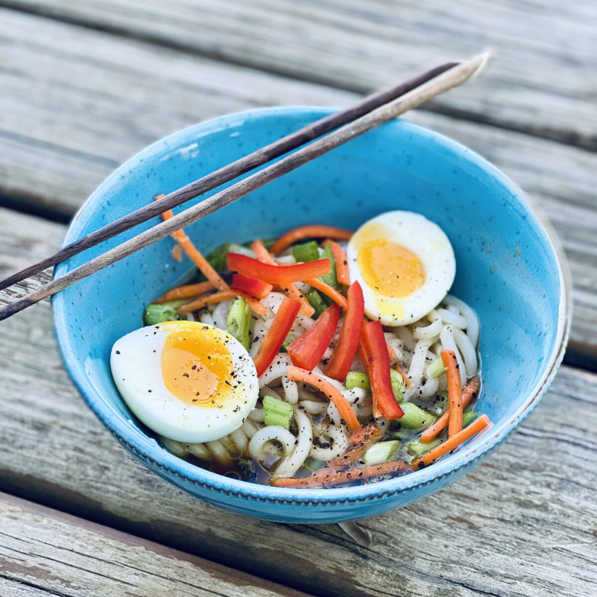Udon Noodle Bowl With Eggs