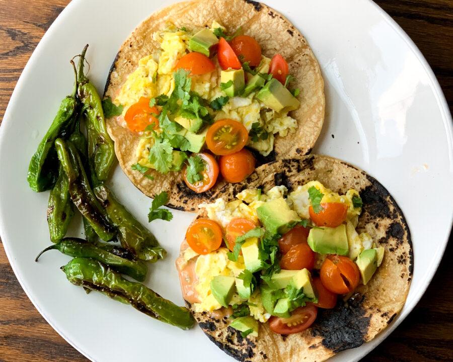 Breakfast Garden Tacos