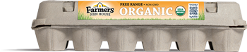 Farmers Hen House Free-Range Organic Eggs carton
