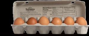 Organic Free-Range Egg Carton open