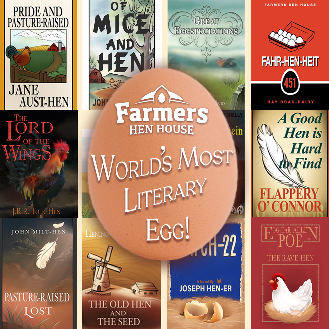 Punny hen book cover composite graphic