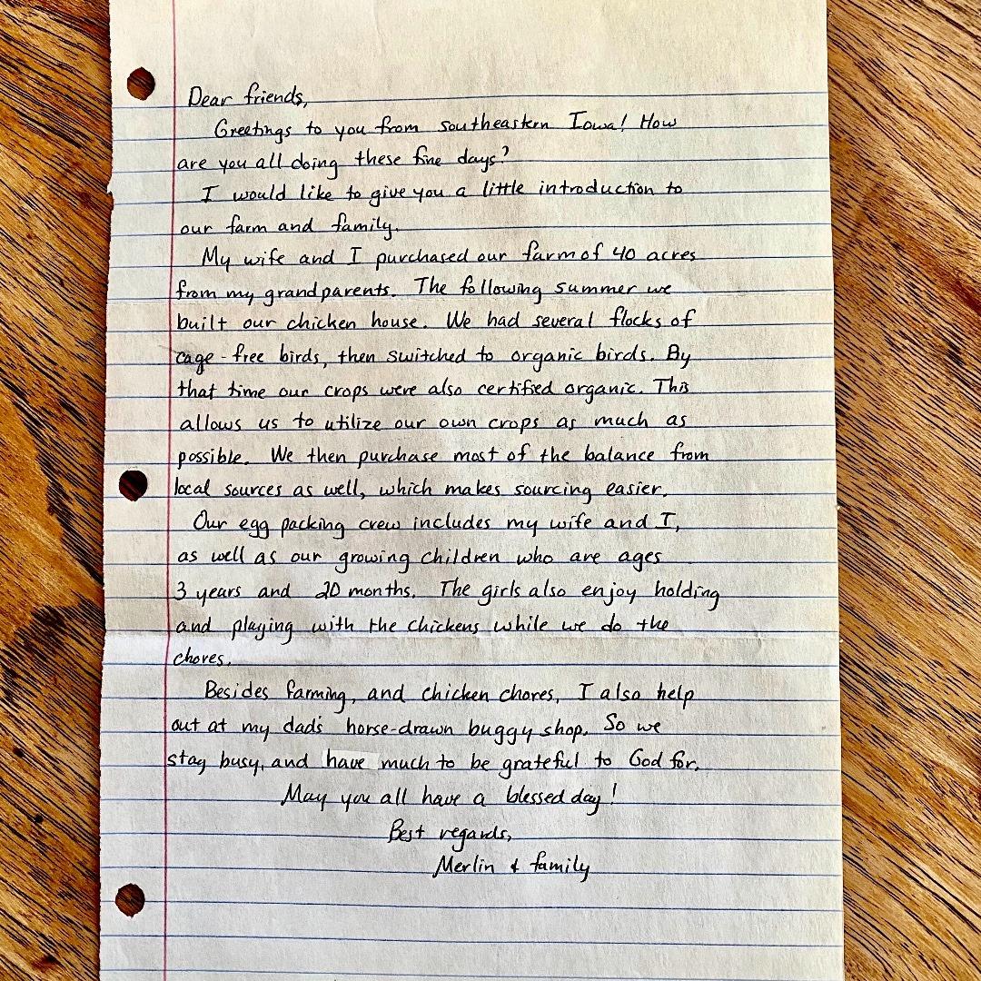 farmers hen house farmer note handwritten